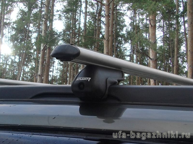 Багажник на крышу Great Wall Hover H5, Атлант, аэродинамические дуги на рейлинги