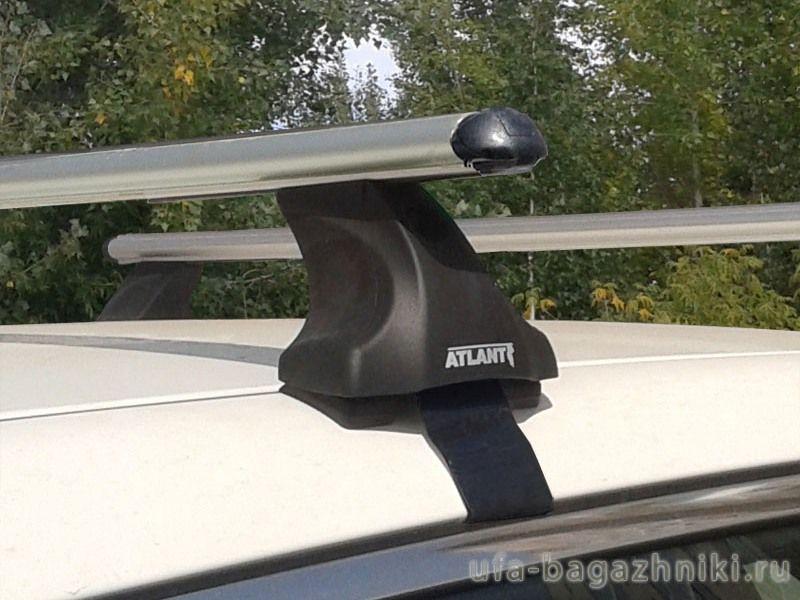 Багажник на крышу Nissan Qashqai (5-dr SUV с 2013 г), Атлант, аэродинамические дуги