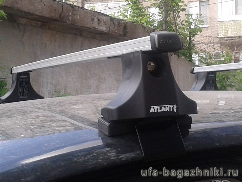 Багажник на крышу Volkswagen Passat B3, Атлант, прямоугольные дуги