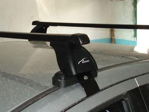 Багажник на крышу Lada Vesta, Lux, стальные прямоугольные дуги
