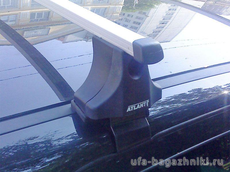 Багажник на крышу Nissan Qashqai (5-dr CUV 2007-13), Атлант, прямоугольные дуги