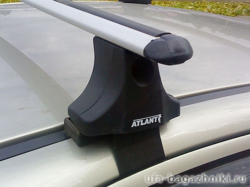 Багажник на крышу на Mitsubishi Lancer 10, sedan/hatchback, Атлант, аэродинамические дуги