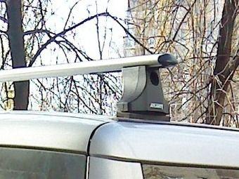 Багажник на крышу Fiat Doblo, Атлант, аэродинамические дуги