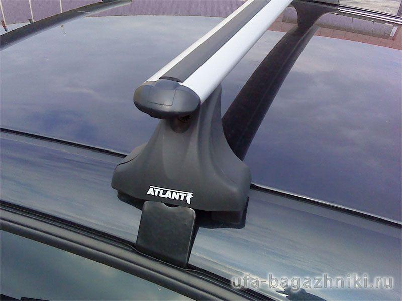 Багажник на крышу Renault Fluence, Атлант, аэродинамические дуги, опора Е