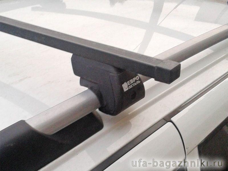 Багажник на крышу - стальные прямоугольные дуги на рейлинги Лада Калина, Евродеталь