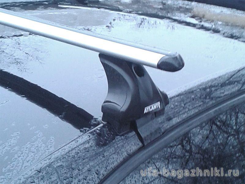 Багажник на крышу Skoda Octavia A7, Атлант, аэродинамические дуги, опора Е