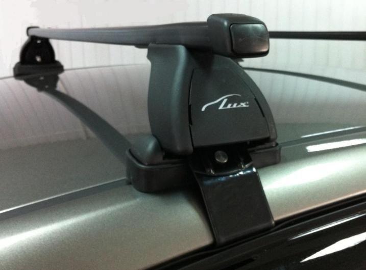 Багажник на крышу Lada Xray, Lux, прямоугольные стальные дуги