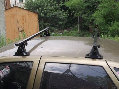 Багажник на крышу ВАЗ 2110, 2112, Евродеталь, стальные прямоугольные дуги