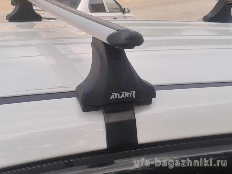 Багажник на крышу Mazda CX-5 2017-..., Атлант: аэродинамические дуги и опоры типа Е