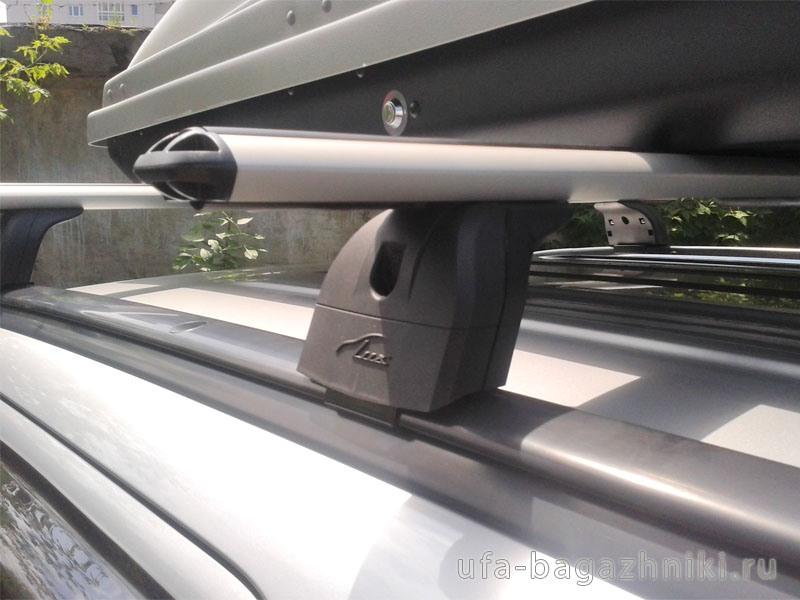 Багажник на крышу Mitsubishi Pajero Sport 2016г-..., Lux, аэродинамические дуги (73 мм) на интегрированные рейлинги