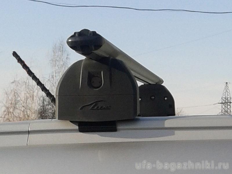 Багажник на крышу Haval H6 2014-..., Lux, аэродинамические дуги (53 мм) на интегрированные рейлинги